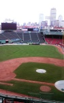 Boston skyline view from the Press Box // author's photo